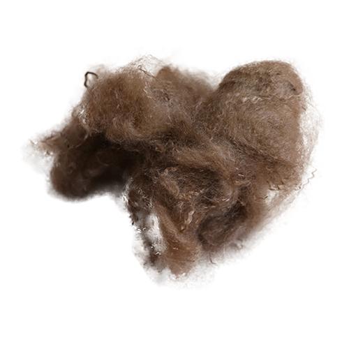 驼色光皮毛专用涤纶短纤维