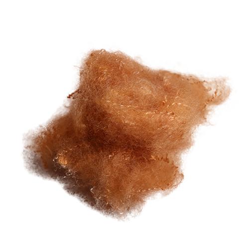 杏黄 红头皮毛专用涤纶短纤维