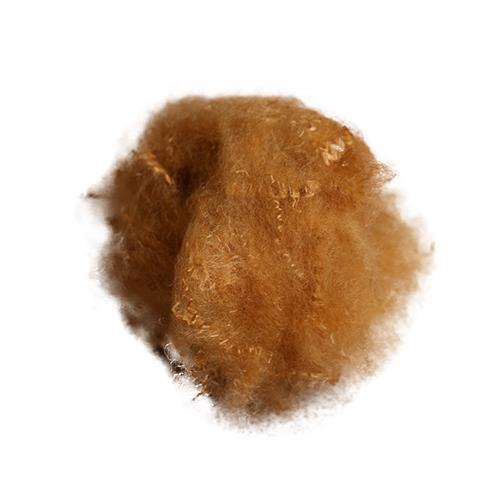 杏黄光皮毛专用涤纶短纤维